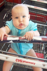Hana Kate's first time in a cart